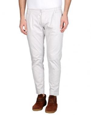 Повседневные брюки ENTRE AMIS. Цвет: светло-серый