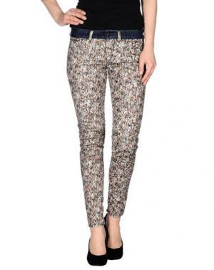 Повседневные брюки NINE:INTHE:MORNING. Цвет: коричневый