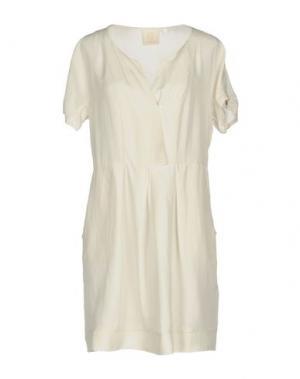 Короткое платье AKEP. Цвет: светло-серый