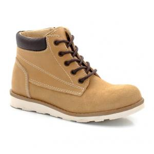 Ботинки из замши с застежкой на молнию и шнурки abcd'R. Цвет: охра