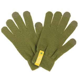 Перчатки  Touchgloves Olive TrueSpin. Цвет: зеленый