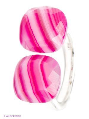 Кольцо BALEX. Цвет: серебристый, фуксия