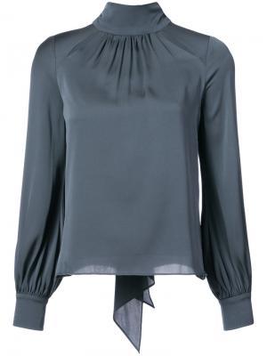 Блузка с высоким горлом Milly. Цвет: серый