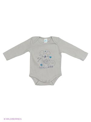 Пижама ясельная рукав MN0102 04 цвет серый, мышонок Квирит. Цвет: серый