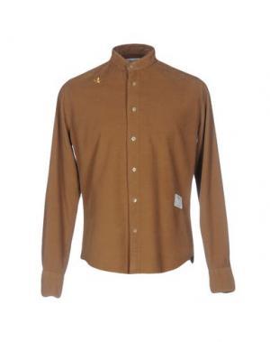 Pубашка THE EDITOR. Цвет: коричневый