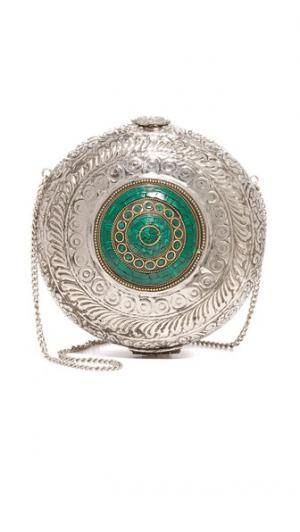 Круглая металлическая сумка Zhuu