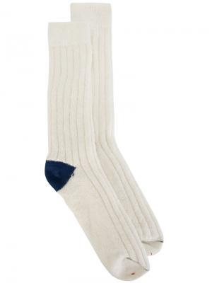 Носки в рубчик Bellerose. Цвет: белый