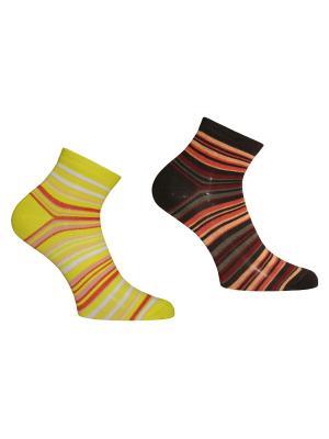 Носки 2 пары Master Socks. Цвет: желтый, темно-коричневый