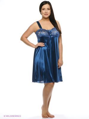 Сорочка ночная Belweiss. Цвет: темно-синий
