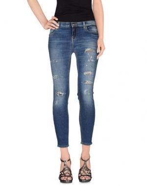 Джинсовые брюки KAOS JEANS. Цвет: синий