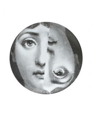 Декоративная тарелка FORNASETTI. Цвет: стальной серый