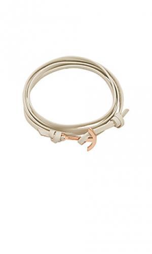 Мини-браслет modern anchor Miansai. Цвет: кремовый