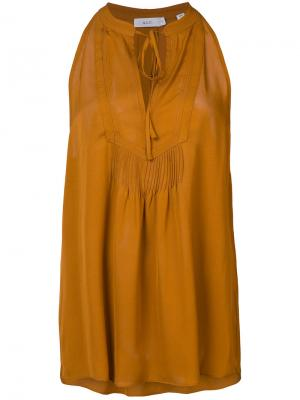 Блузка без рукавов с горловиной на завязке A.L.C.. Цвет: коричневый