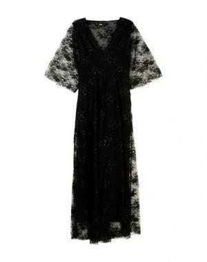 Длинное платье MAJE. Цвет: черный