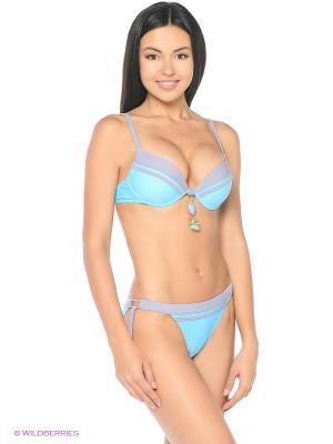 Купальный костюм FIANETA. Цвет: голубой