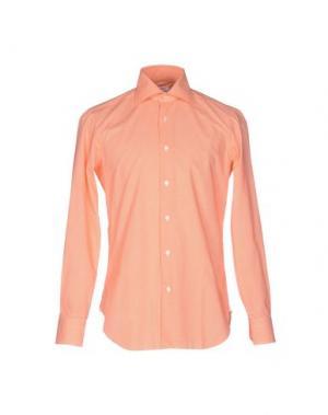 Pубашка BARBA NAPOLI. Цвет: оранжевый
