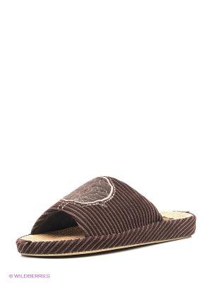 Тапочки Dream Feet. Цвет: темно-коричневый