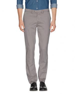 Повседневные брюки HAIKURE. Цвет: голубиный серый