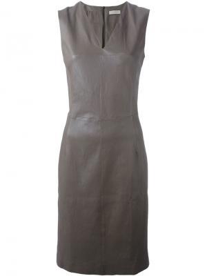 Облегающее платье Maison Ullens. Цвет: коричневый