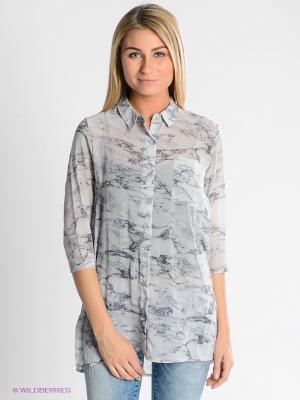 Блузка Vero moda. Цвет: светло-серый