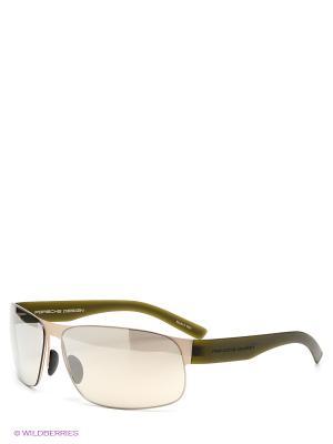 Солнцезащитные очки Porsche Design. Цвет: бежевый
