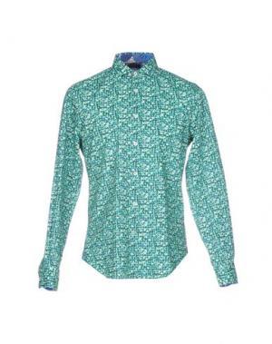 Pубашка GANESH. Цвет: зеленый