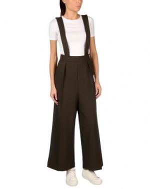Повседневные брюки WEILI ZHENG. Цвет: темно-зеленый