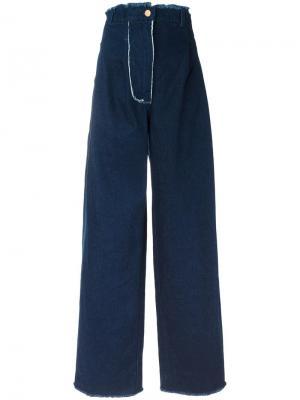 Широкие джинсы с завышенной талией Natasha Zinko. Цвет: синий