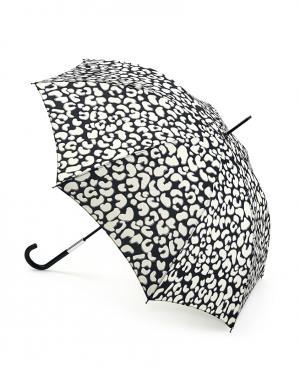 Зонт-трость Леопард  by Fulton Lulu Guinness. Цвет: черный