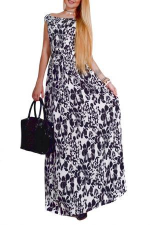 Платье Patricia B.. Цвет: черный, серый, молочный