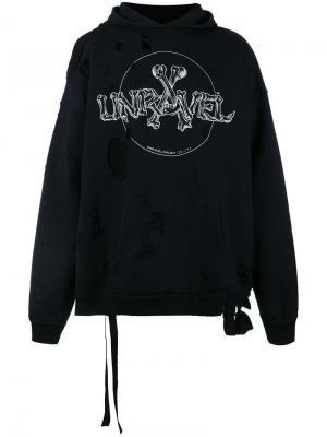 Толстовка с логотипом Unravel Project. Цвет: чёрный