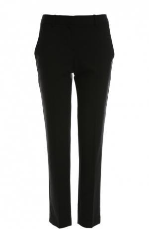 Укороченные брюки прямого кроя со стрелками Theory. Цвет: черный
