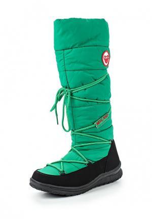Дутики Mon Ami. Цвет: зеленый