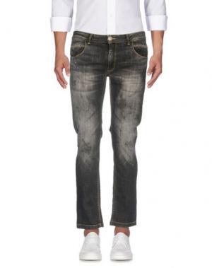Джинсовые брюки ONE SEVEN TWO. Цвет: серый