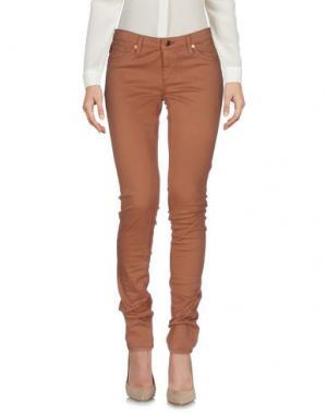 Повседневные брюки AG ADRIANO GOLDSCHMIED. Цвет: коричневый
