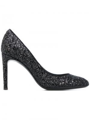 Блестящие туфли-лодочки Giuseppe Zanotti Design. Цвет: чёрный