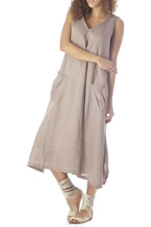 Платье ZEDD. Цвет: бежевый