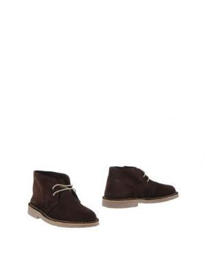 Полусапоги и высокие ботинки KENT. Цвет: темно-коричневый