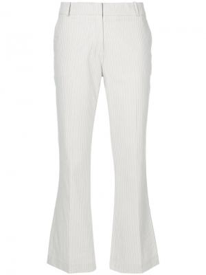 Cropped tailored trousers Kiltie. Цвет: телесный