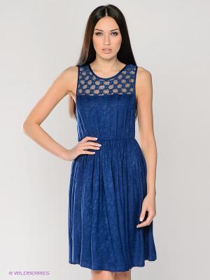 Платье LACE DETAIL DRESS MAVI. Цвет: темно-синий