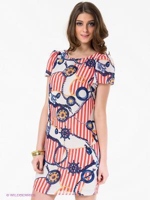Платье LuAnn. Цвет: синий, красный, оранжевый, белый