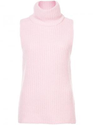Джемпер без рукавов в рубчик Novis. Цвет: розовый и фиолетовый