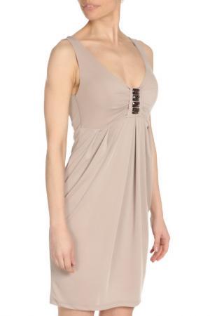 Легкое летнее платье LEIDIRO. Цвет: коричневый