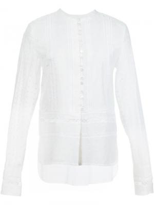 Блузка с вышивкой Derek Lam 10 Crosby. Цвет: белый