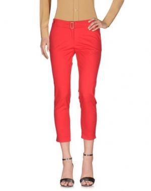 Повседневные брюки X'S MILANO. Цвет: красный