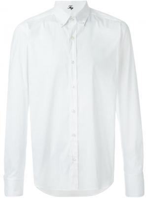 Классическая рубашка на пуговицах Fay. Цвет: белый