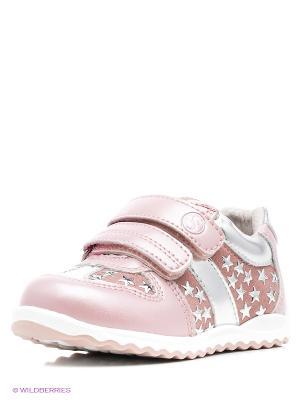 Кроссовки Flamingo. Цвет: розовый, серебристый