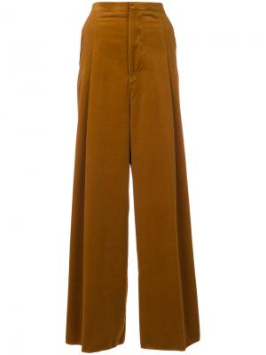 Широкие брюки Golden Goose Deluxe Brand. Цвет: коричневый