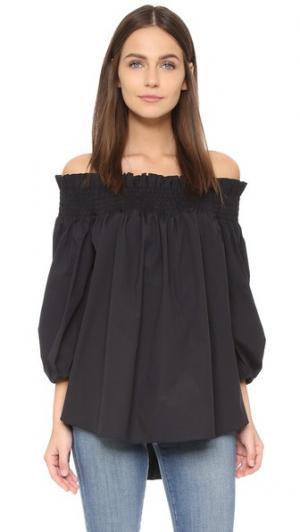 Блуза Lou с открытыми плечами Caroline Constas. Цвет: голубой