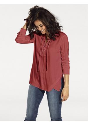 Блузка B.C. BEST CONNECTIONS. Цвет: вишневый, черный, шоколадный, экрю